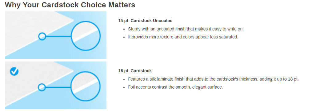 Cardstock Choice Matters